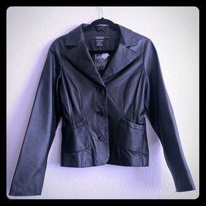 Rampage  Black Leather like butter Jacket Size M